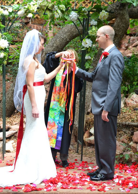Ribbon Wedding Ceremony at Pikes Peak, Manitou Springs, Colorado