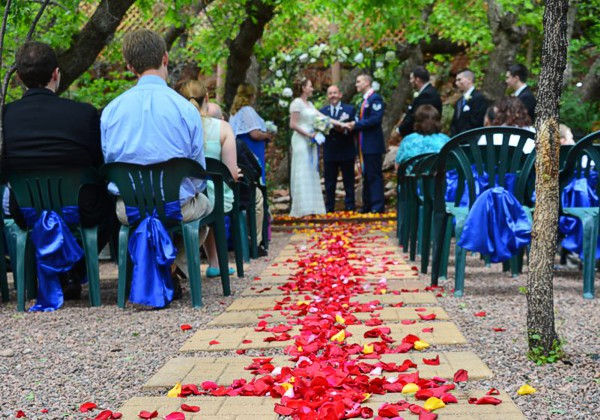 Weddings in The Woodland Garden at Pikes Peak, Manitou Springs, Colorado