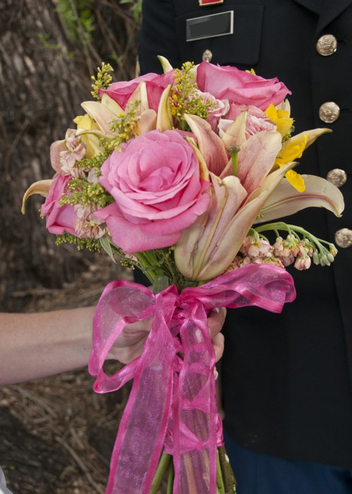 Bridal Bouquet and Flowers at A Pikes Peak Wedding